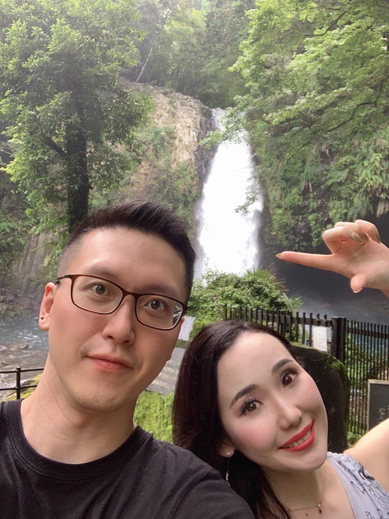 浄蓮の滝に行った日台夫婦