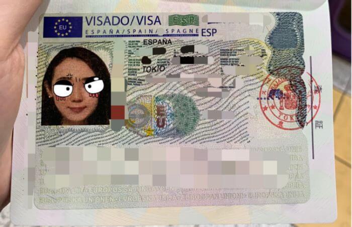 スペイン大使館にビザを受け取りに行く