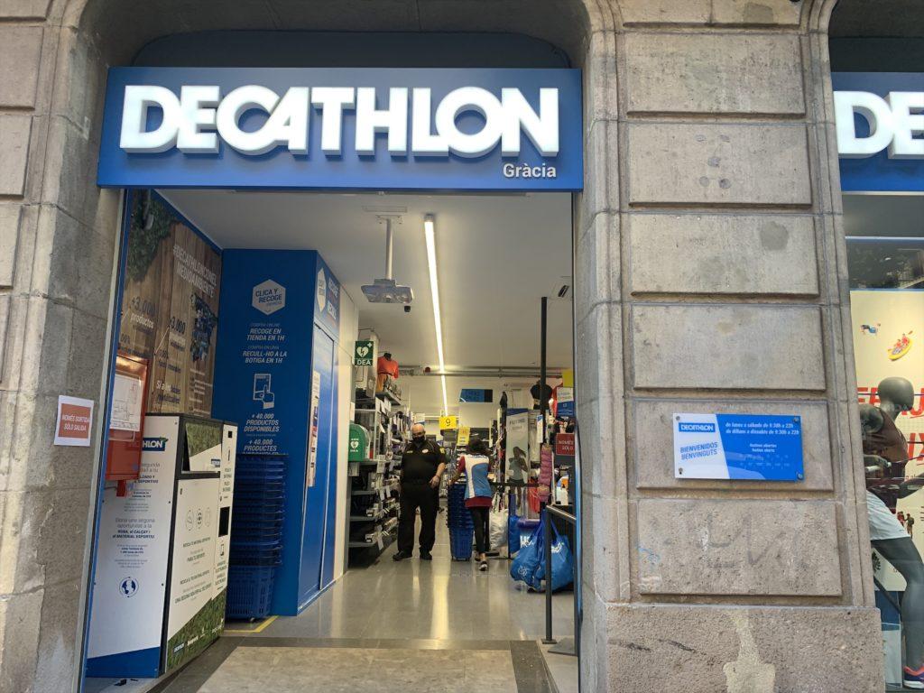 バルセロナグラシアにあるスポーツ用品店