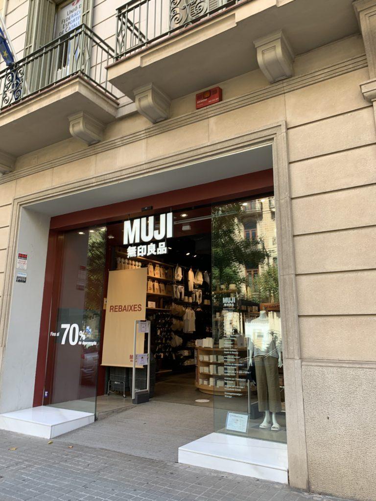 バルセロナの無印良品でお買い物