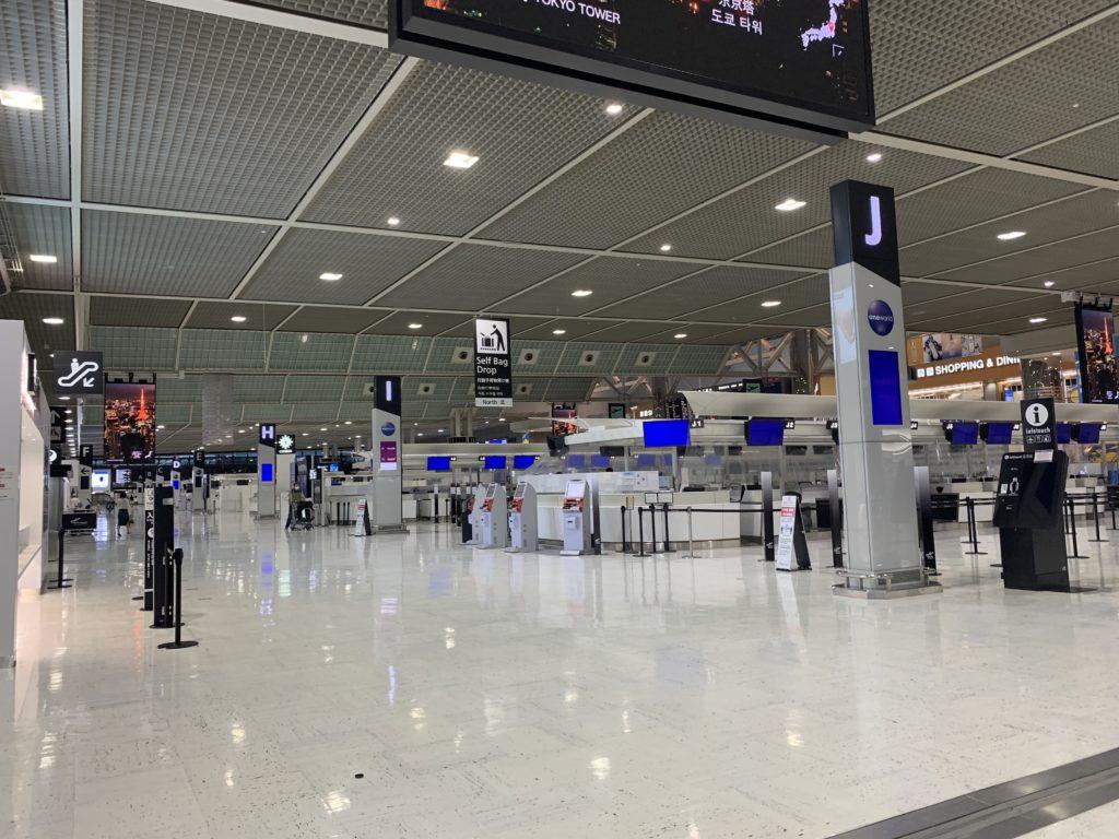 コロナの今の成田空港