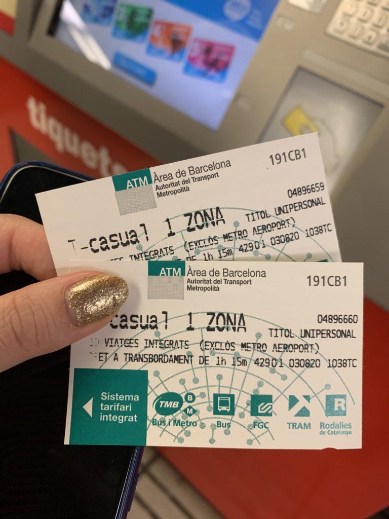 バルセロナのバスチケット10回券