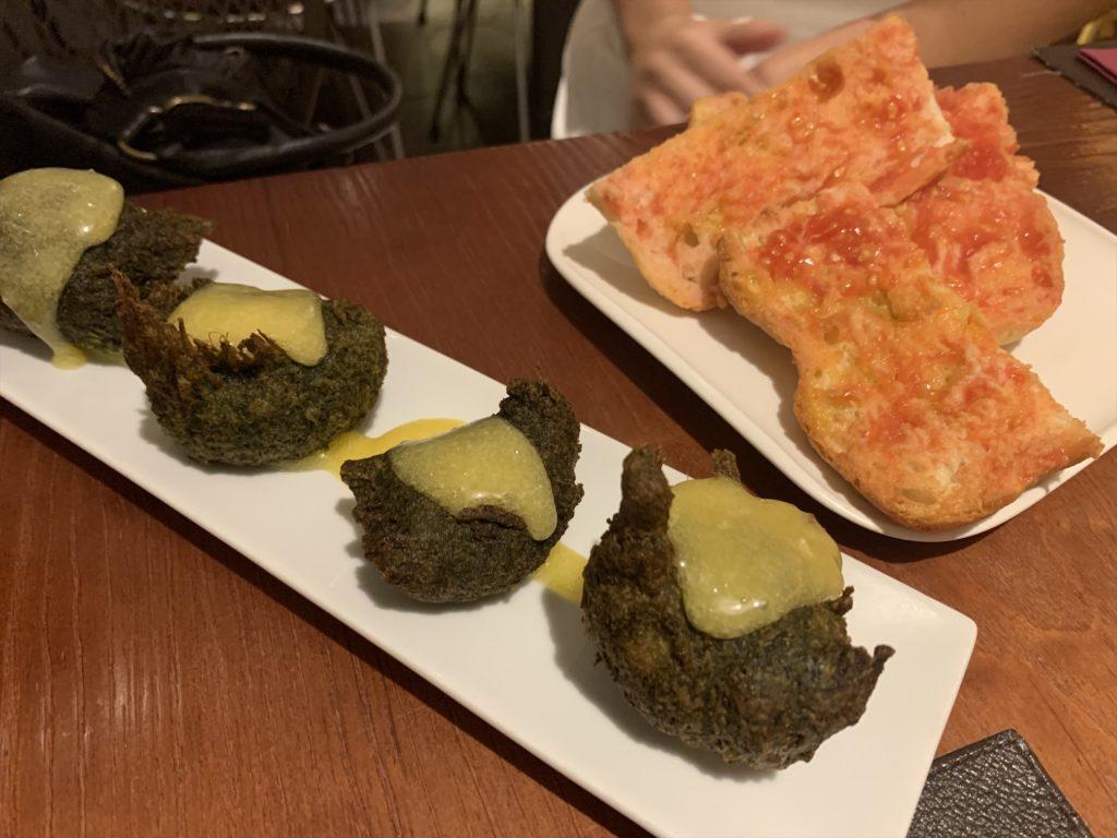 バルセロナ、グラシア地区のレストラン