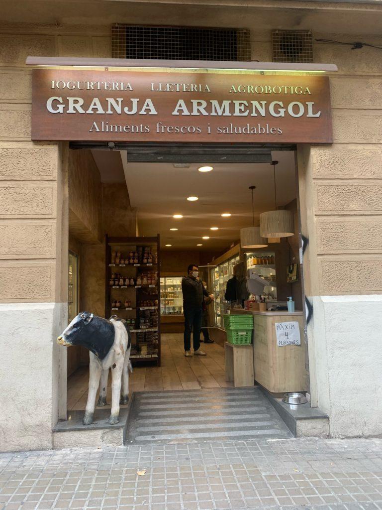 バルセロナの美味しい乳製品専門店!