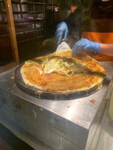バルセロナで中国の屋台料理煎餅を食す