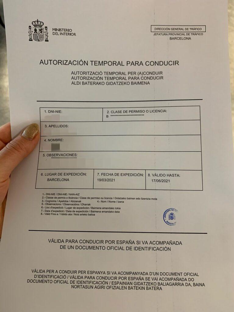 日本の運転免許をスペイン運転免許に切り替えた話