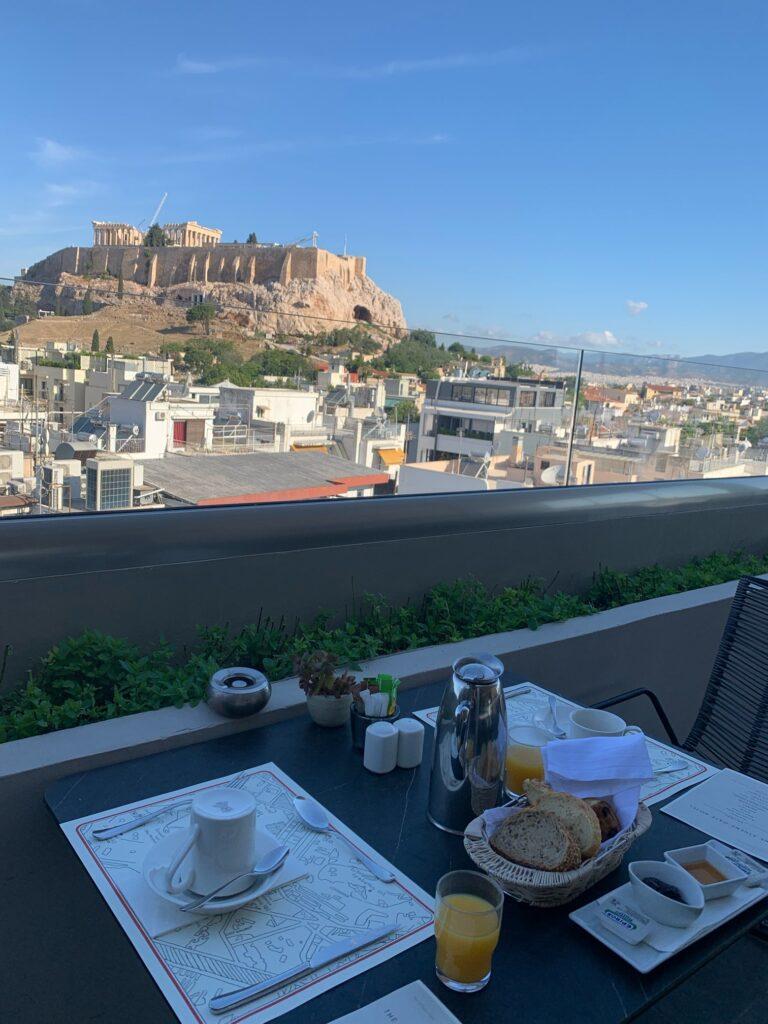 The Athens Gate Hotel、アテネのホテルでモーニング