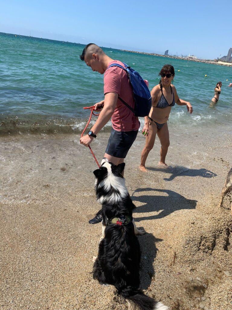 バルセロネータにあるワンコのビーチへ